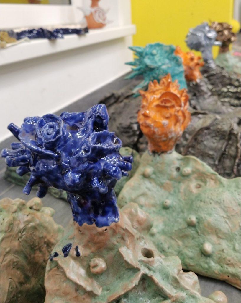 Un obiect de ceramică, creat de copiii de la laboratorul ZARD ART