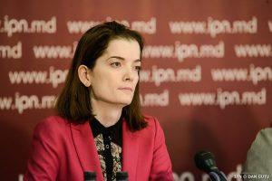 """Experta și una din autorii raportului de monitorizare a discursul de ură, din cadrul asociației """"Promo-LEX"""", Irina Corobcenco, Sursa foto: ipn.md"""