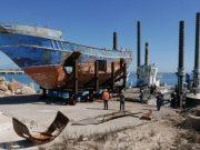 Epava vasului cu migranți naufragiat în Mediterană în aprilie 2015