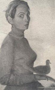 Autopotret cu turturică Maria Mardare-Fusu