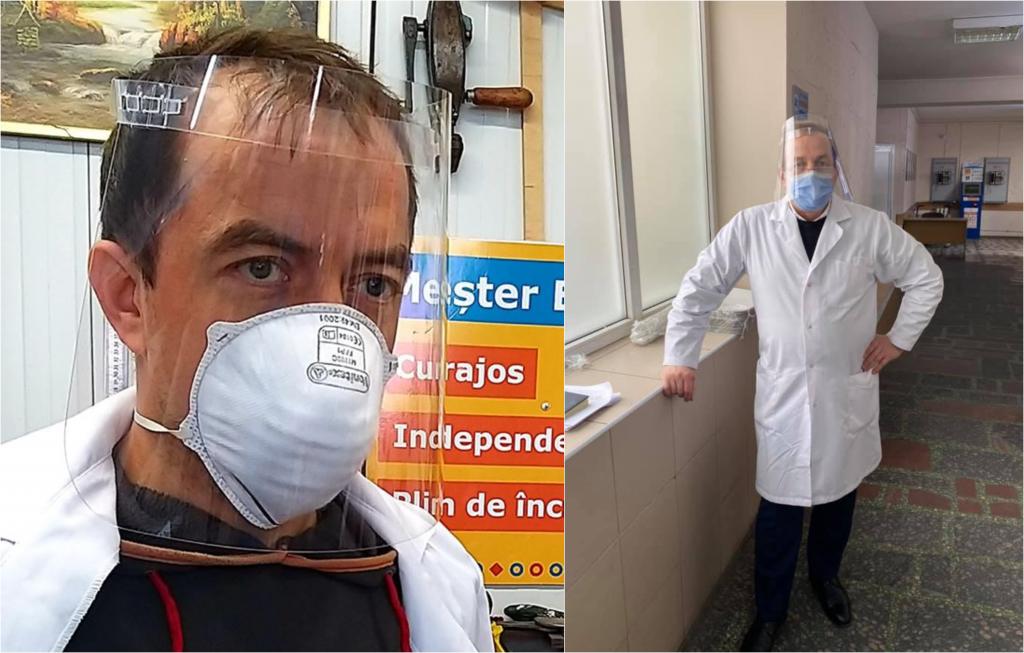 FOTO: dreapta: Igor Hâncu, stânga: Spitalul De Urgenţă Chişinău