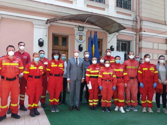 Ambasadorul României la Chișinău, Daniel Ioniță, alături de personalul medical român aflat în misiune umanitară în R. Moldova
