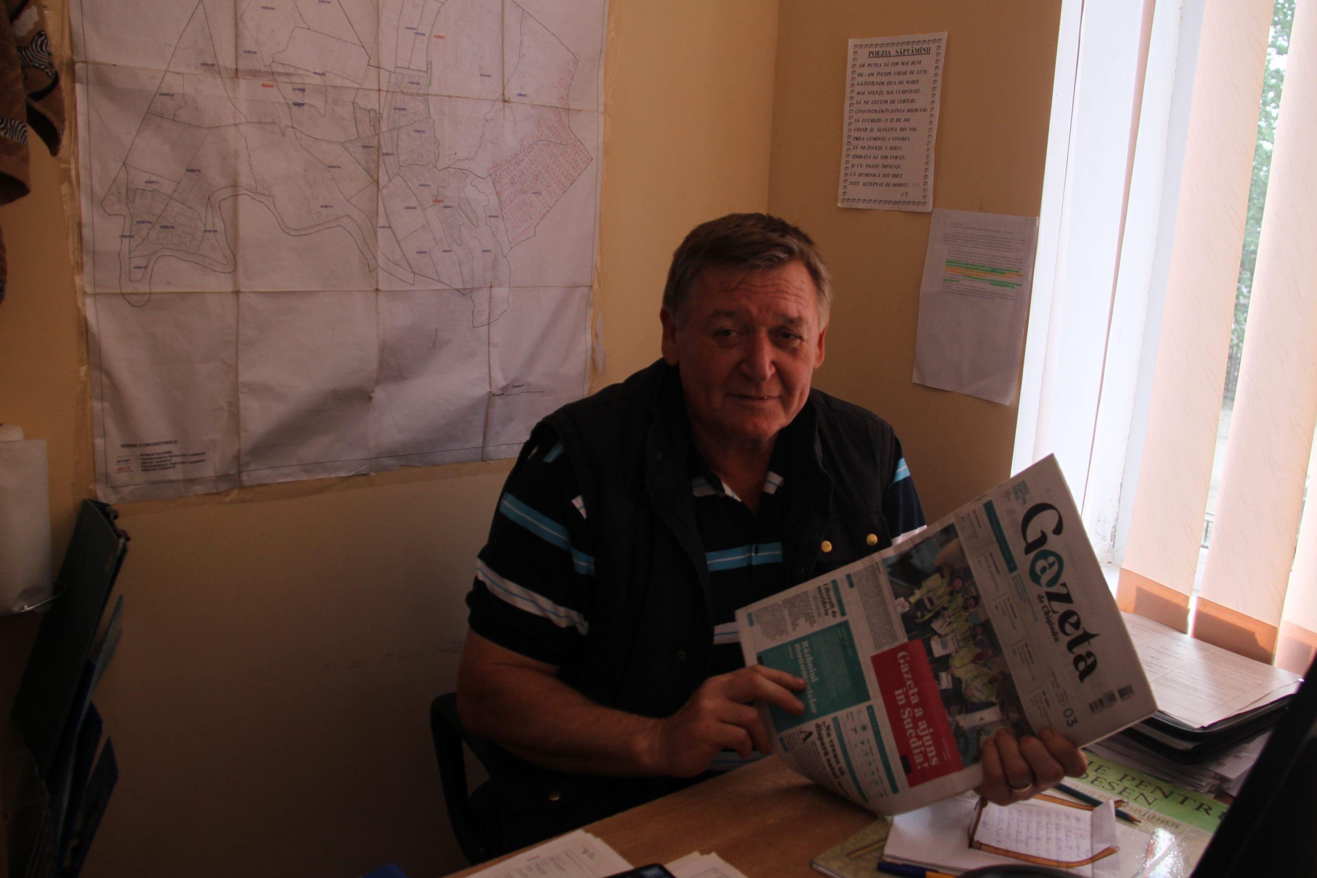 Veaceslav Smerea, inginer cadastral la primăria Petrești, Ungheni, Foto: Natalia Munteanu
