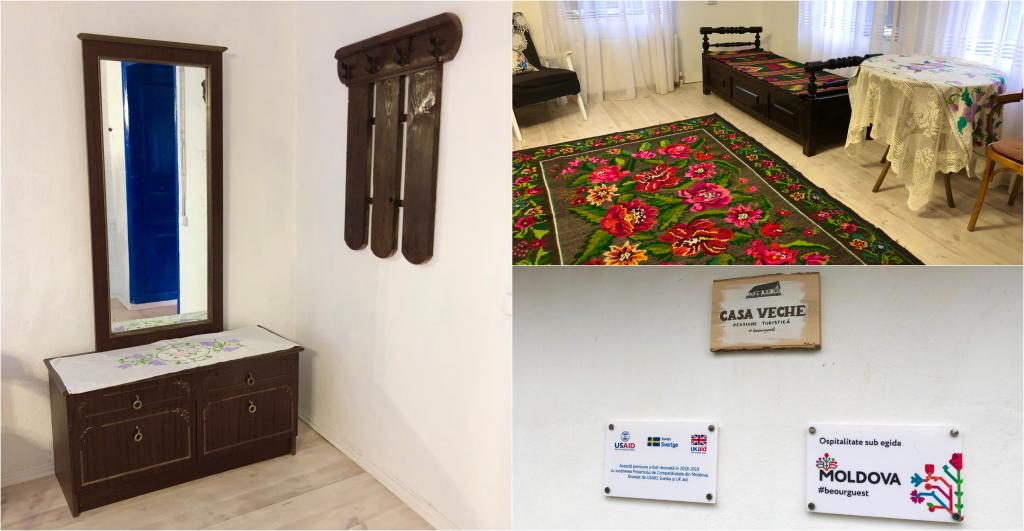 Interiorul pensiunii din Palanca/foto: Ana Sârbu