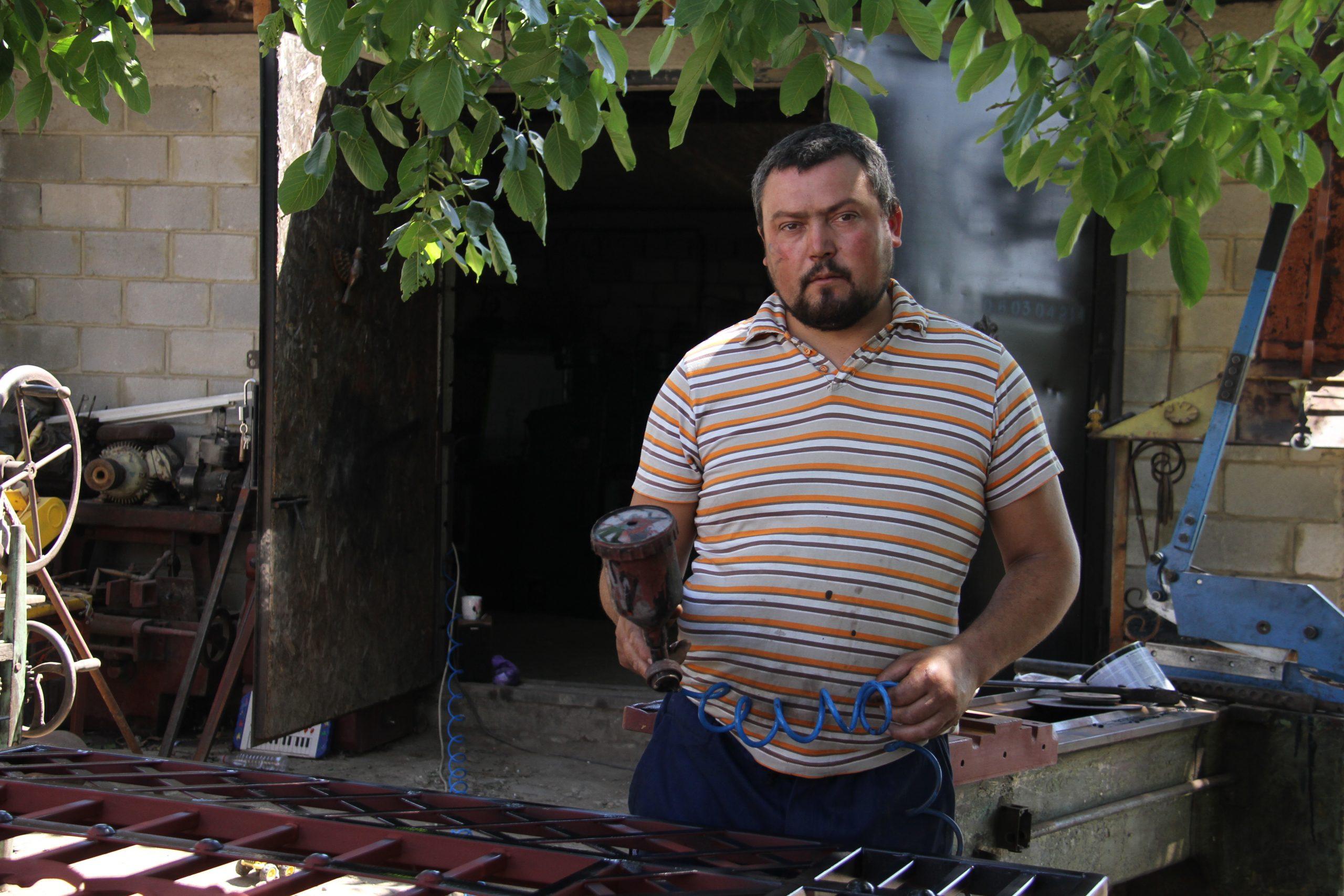 Fierarul Vasile Ulinici din Nisporeni. Foto: Natalia Munteanu