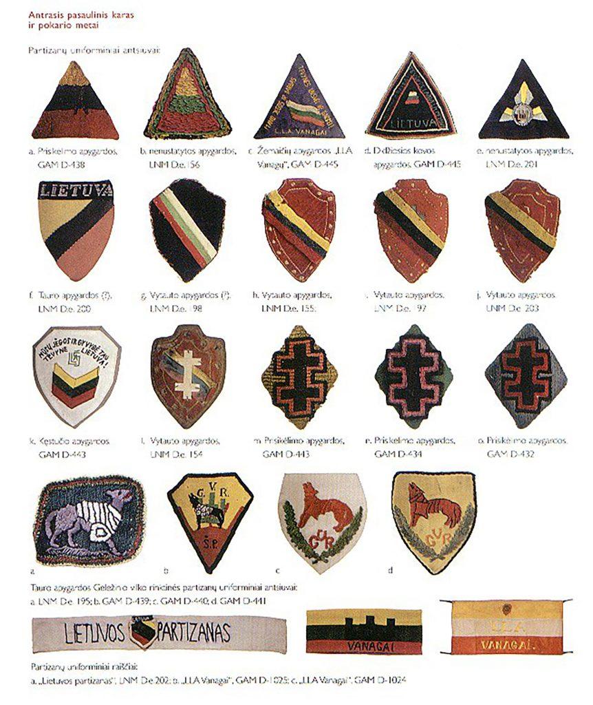 Semne distinctive ale unităților lituaniene de rezistență armată