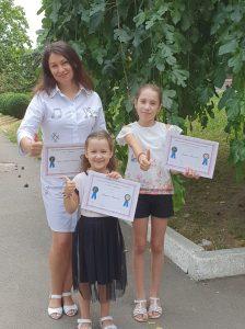 Profesoara de pian Ina Ciuico și elevele sale Ariadna Artemencp și Bogdana Artemenco, premiante ale Online Piano International Competition, New York