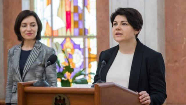 Maia Sandu și Natalia Gavriliță