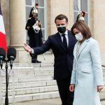 Maia Sandu și Emmanuel Macron, la Palatul Elysée
