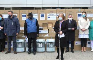 Ceremonia de recepționare a echipamentelor medicale donate R.Moldova de UE, cu suportul OMS și al Germaniei